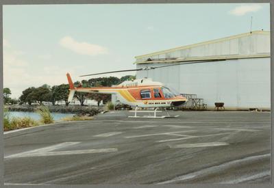 ZK-HVC Bell 206 Jet Ranger 28.12.86 Mechanics Bay