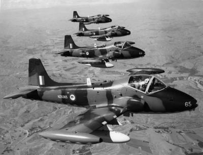 RNZAF BAC Strikemasters in flight