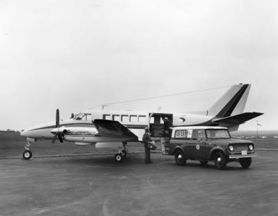 Beechcraft 99 on the ground