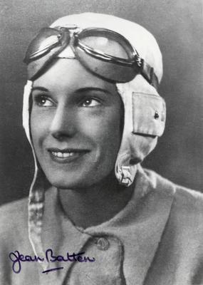 [Portrait of Jean Batten in flying gear]