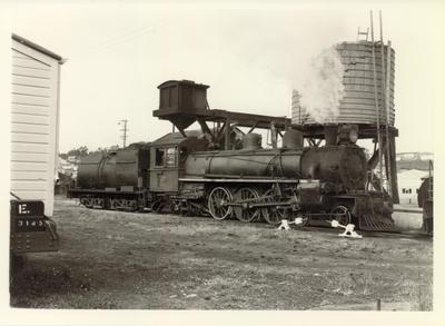 Locomotive Ab 752, Whangarei station, 1959