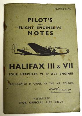 Pilot's & flight engineer's notes : Halifax III