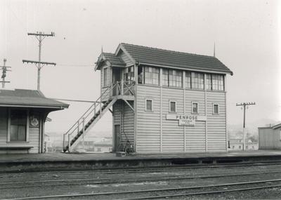 Signal box, Penrose station, 1959