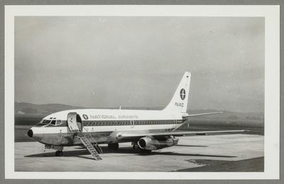 [ZK-NAK Boeing 737-214 photograph]; John Page; 03 Nov 1974