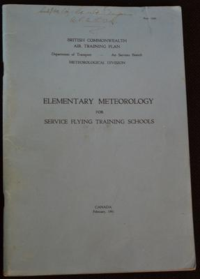 Elementary meteorology for service flying training schools