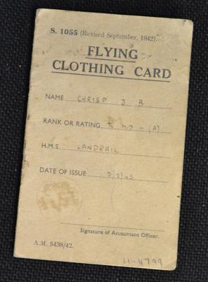Flying clothing card [for J. B. Chrisp]