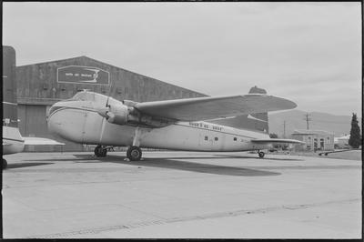 2/35m. 28.2.71 Woodburne [sic] [ZK-CLU Bristol 170 Freighter Mk31E]