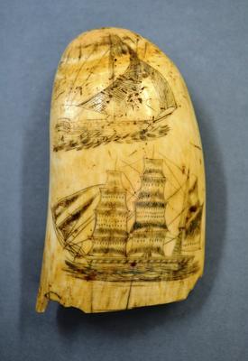 Marine Memorabilia [Scrimshaw whale's tooth]