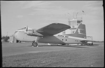 620 21.10.68 Woodburne [sic] [ZK-CWF Bristol 170 Freighter Mk31]