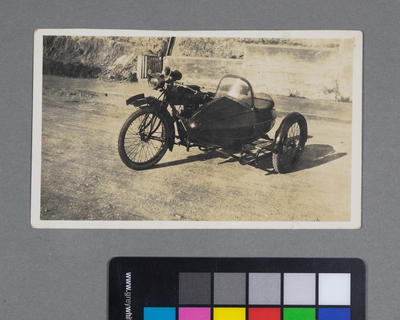 [Indian motorcycle sidecar combination]