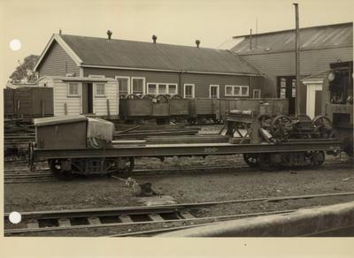 40 ton Craven rail crane tender, 1954