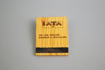 Matchbook [IATA 29th AGM Auckland November 1973]