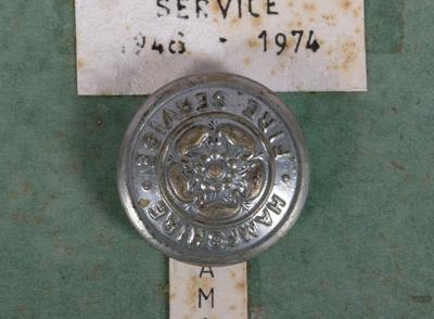 Button [Hampshire Fire Service (1948-1974)]