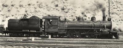 Steam locomotive Ab 750, Auckland central, 1954