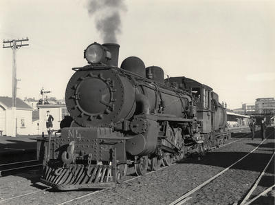 Steam locomotive Ab 824, Newmarket, 1959