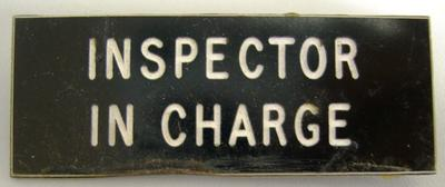 Badge [Inspector in Charge]