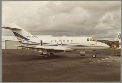 ZK-EUI British Aerospace BAe 125-800B; John Page; 15 Mar 1987