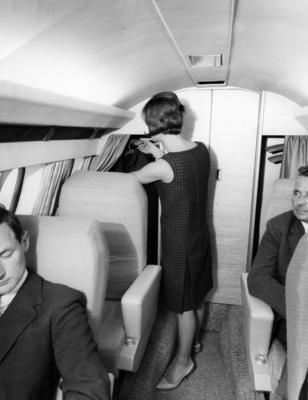 Passenger cabin on Hawker Siddeley HS 125