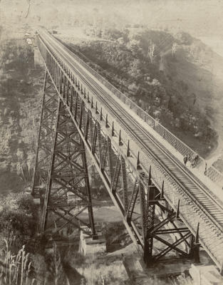 Makohine viaduct recently completed, c 1908