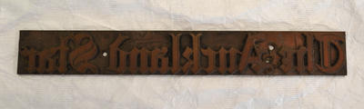 Printing Plate [The Auckland Star]