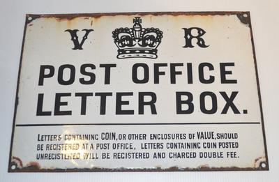 Sign [Post Office Letter Box]