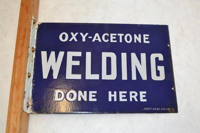 Sign [Oxy-Acetone Welding]