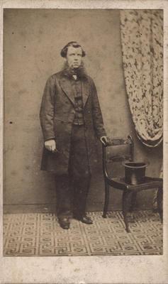 Portrait photograph of a man