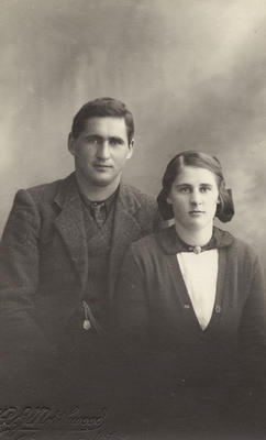 Photograph of a unidentified man and a young woman