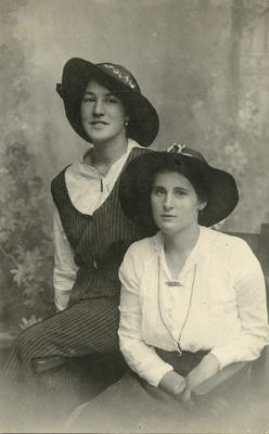 Photograph of two young women