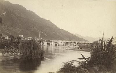Photograph of rail bridge over river