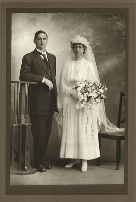 Photograph of a bride  and groom