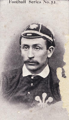 Collector's photograph of a British Football player