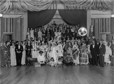 People dressed in costume
