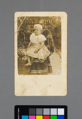 [Postcard of young child]