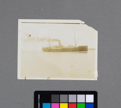 [Photograph of unidentified battleship]
