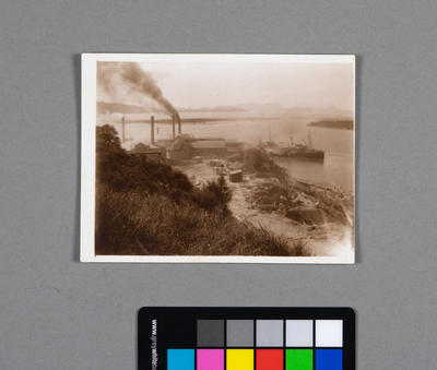 [Photograph of cement works on Matakohe Limestone Island]