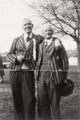 [Unidentified Auckland Transport sport officials]; Unknown Photographer; Feb 1948?