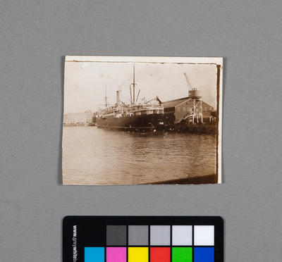 [Photograph of coal ship in harbour]