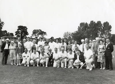 [Unidentified cricket players and supporters]
