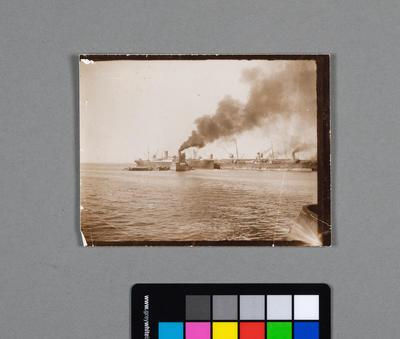 [Photograph of coal ships]