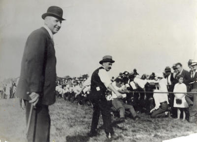 [Tug of war game with supporters]; Unknown Photographer; Unknown
