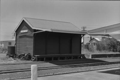 Photograph of goods shed, Kaipara Flats station
