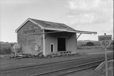 Photograph of goods shed, Taipuha station