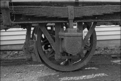 Photograph of old axle box