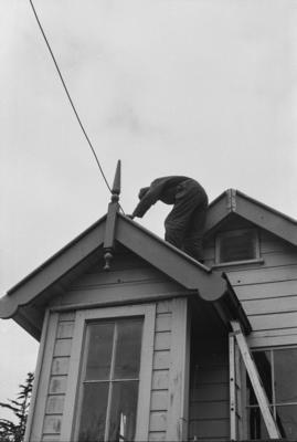 Photograph of signal box at MOTAT