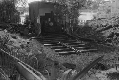 Photograph of MOTAT rail display area