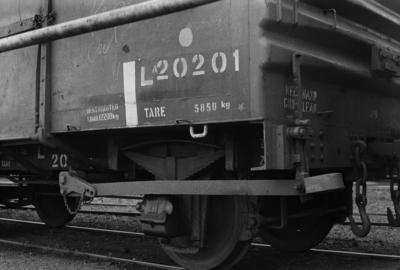 Photograph of metal-sided wagon LA 20201