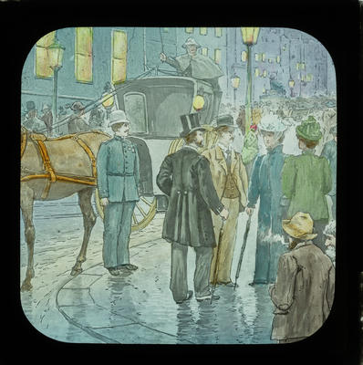 [Magic lantern slides: Sunday School Stories: In his steps: A story in person; Religious images Coloured pictures]