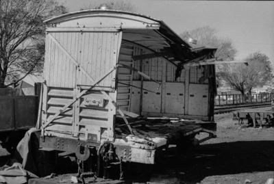 Photograph of damaged XA cold wagon