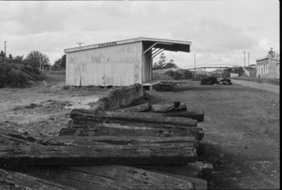 Photograph of goods shed, Swanson railway station